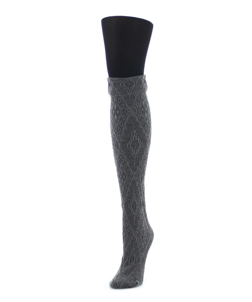 Diamond Stretch Layered-Look Tights - MeMoi