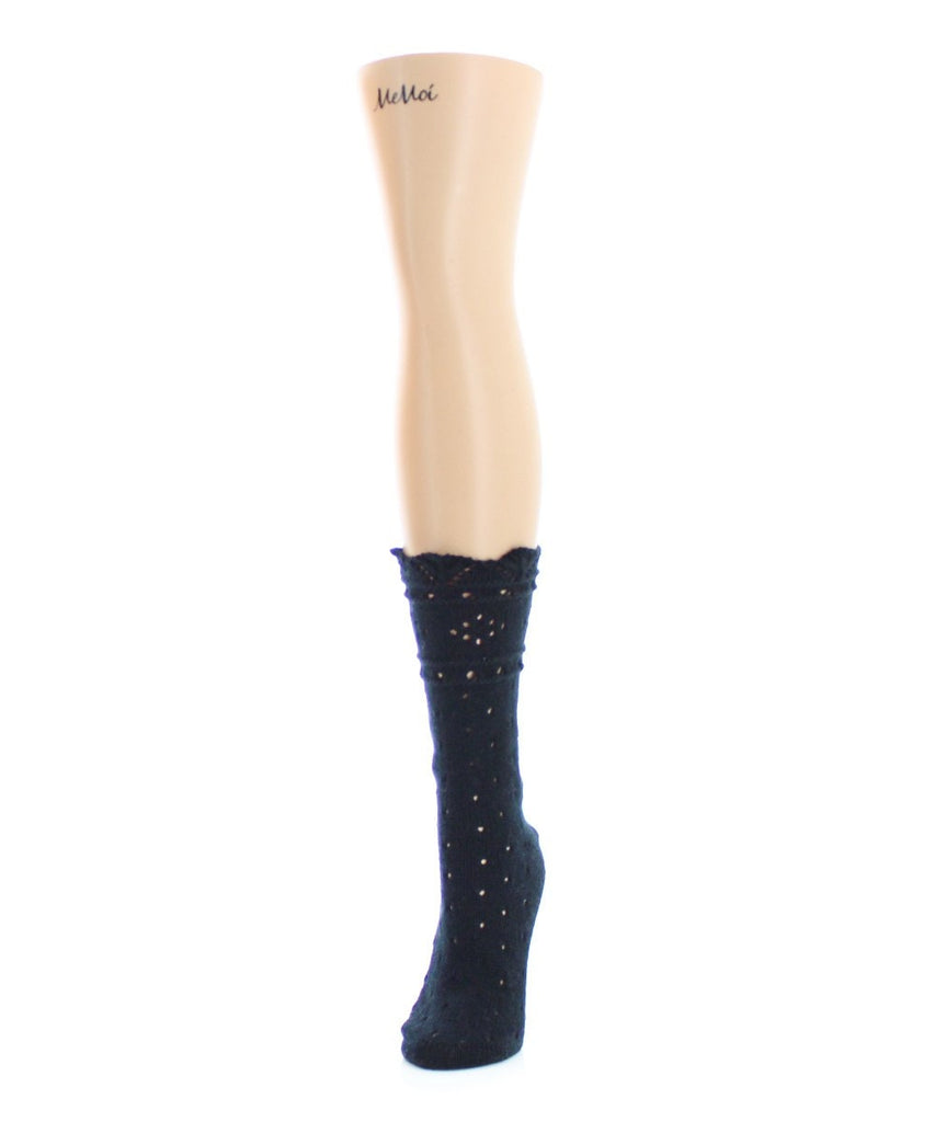 Diamond Dance Chunky Knit Boot Sock - MeMoi - 1