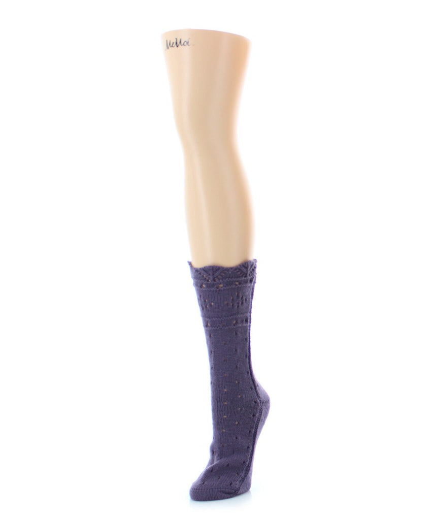 Diamond Dance Chunky Knit Boot Sock - MeMoi - 3