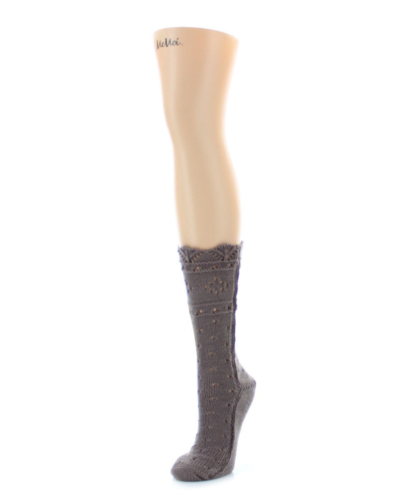 Diamond Dance Chunky Knit Boot Sock - MeMoi - 4