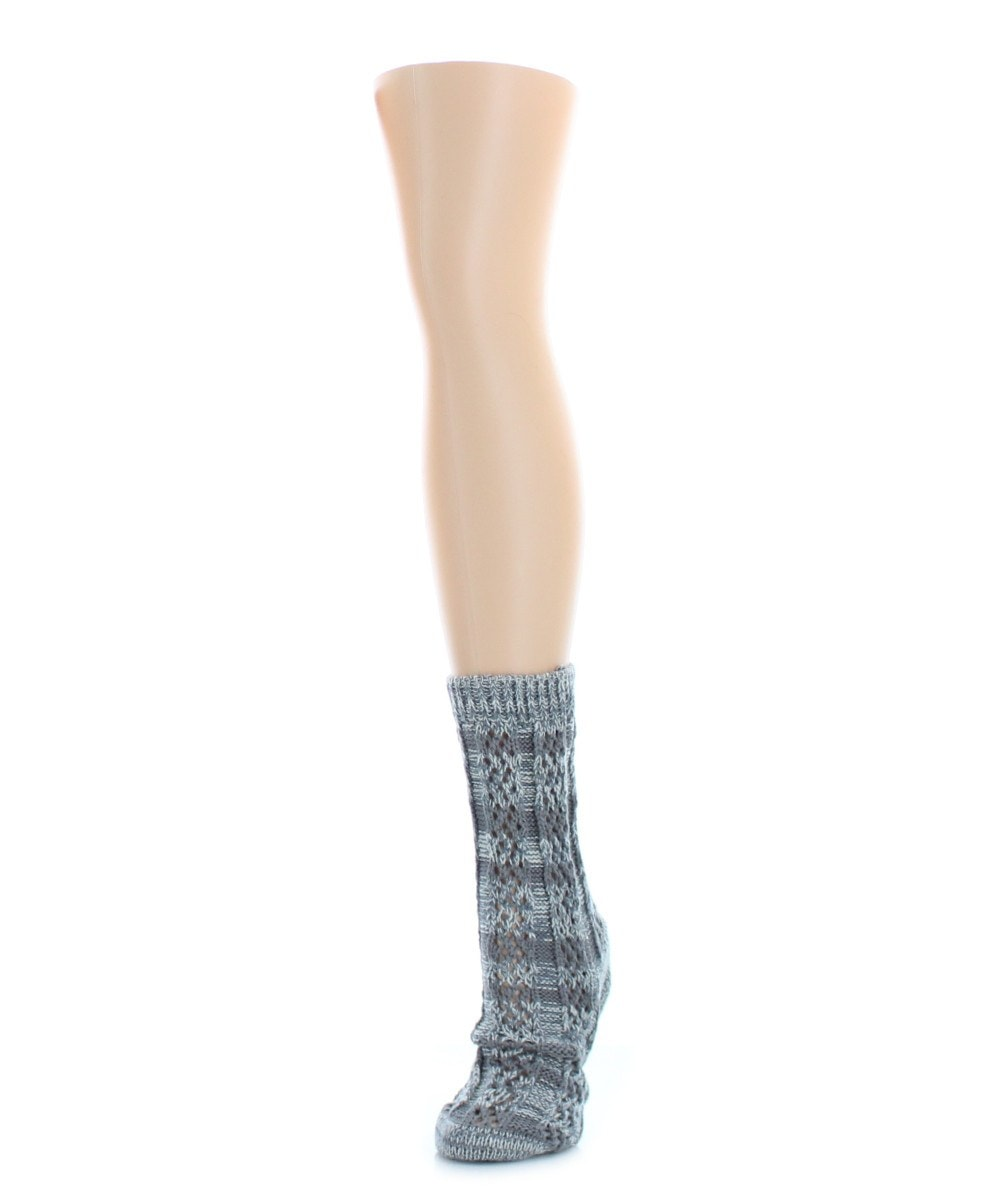 Stripe Shade Chunky Knit Boot Sock Legion - MeMoi - 3