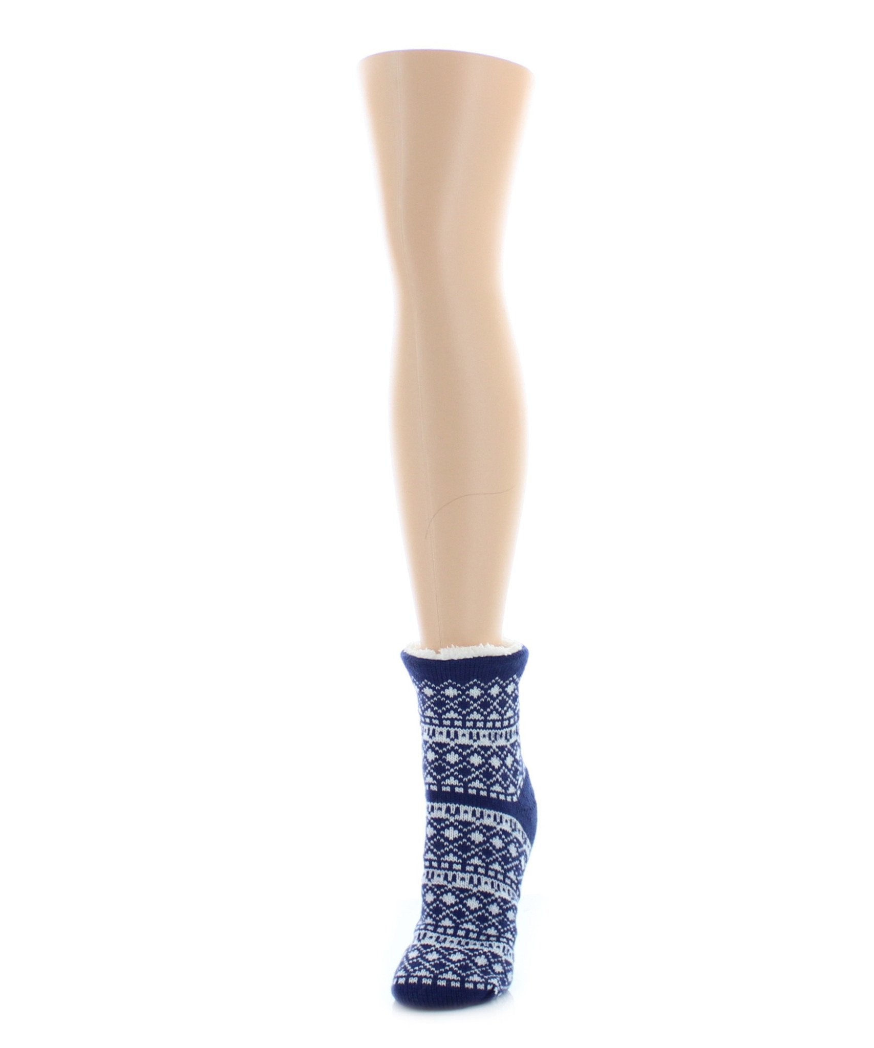 Fairisle Sherpa Lined Lounge Sock - MeMoi - 3