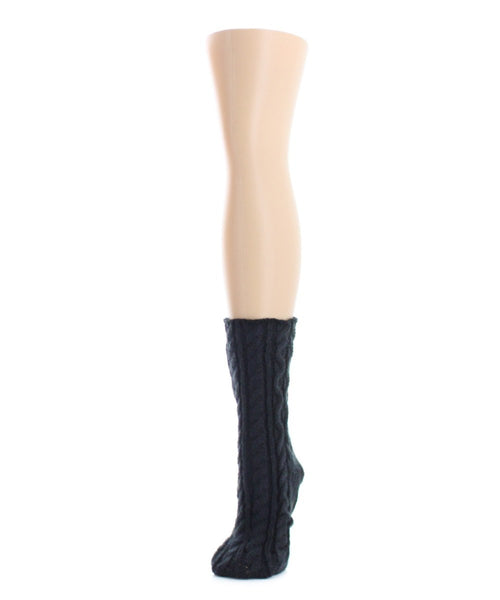 Cable Braid Chunky Knit Boot Sock - MeMoi - 1