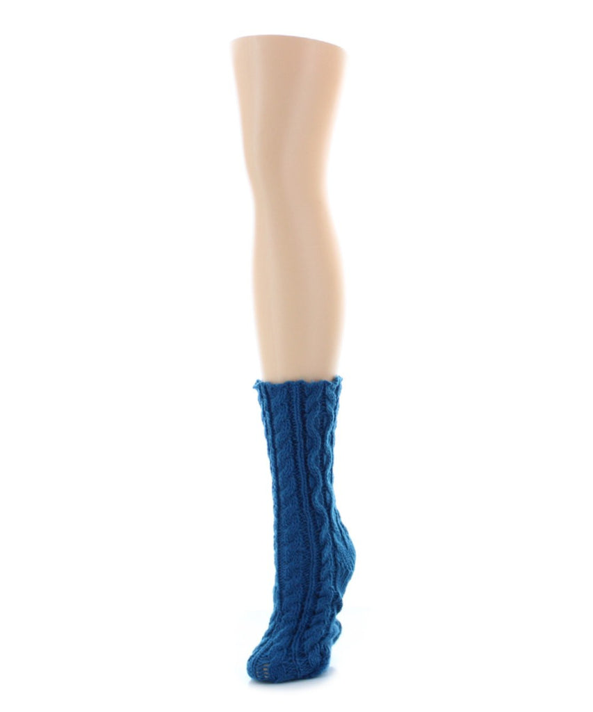 Cable Braid Chunky Knit Boot Sock - MeMoi - 3