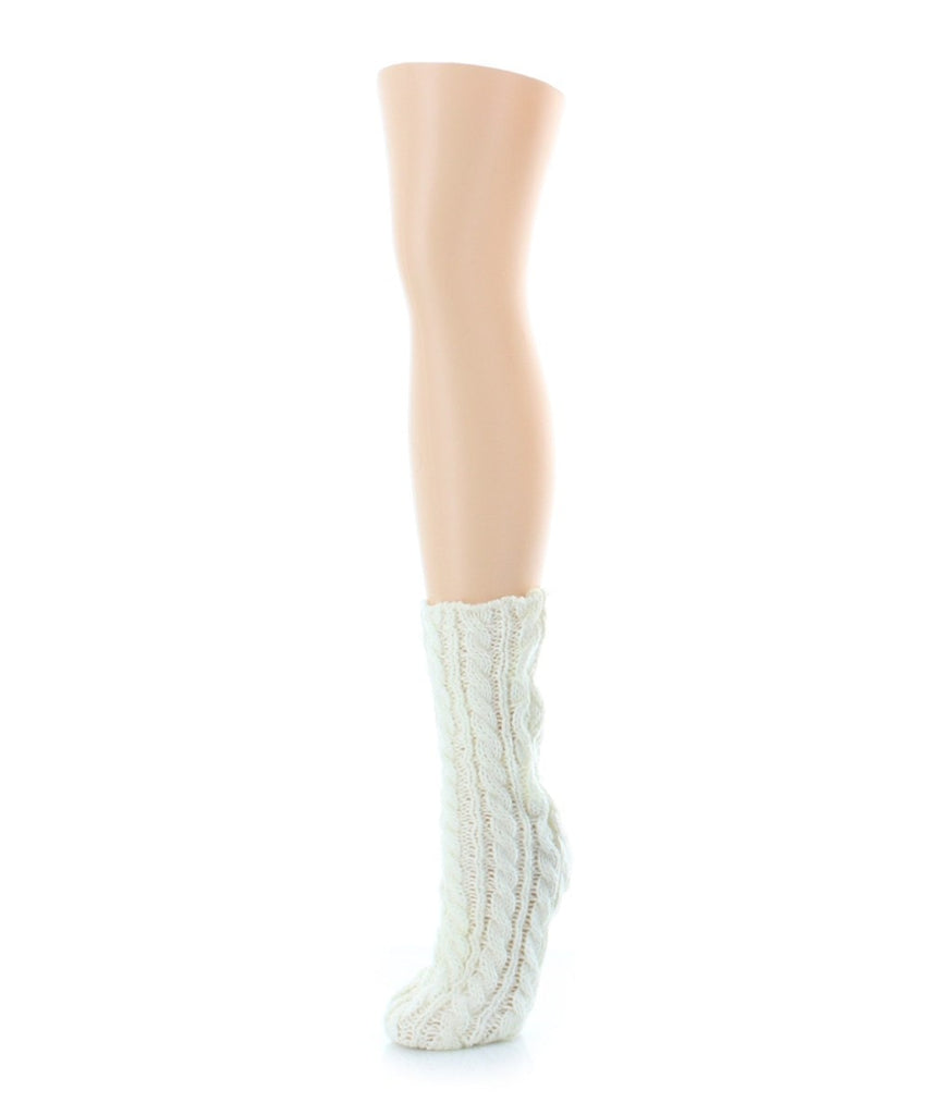 Cable Braid Chunky Knit Boot Sock - MeMoi - 5
