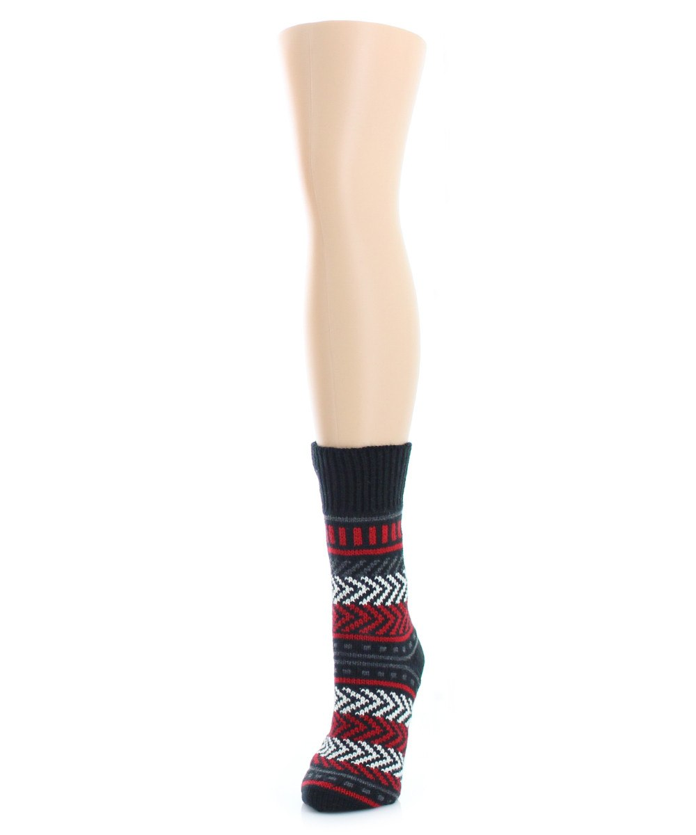 Zag Dash Chunky Knit Boot Sock - MeMoi - 2