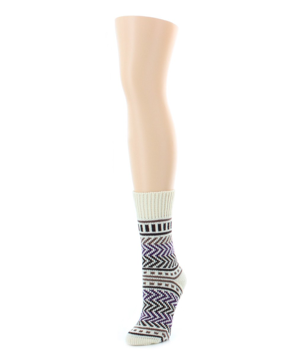Zag Dash Chunky Knit Boot Sock - MeMoi - 4
