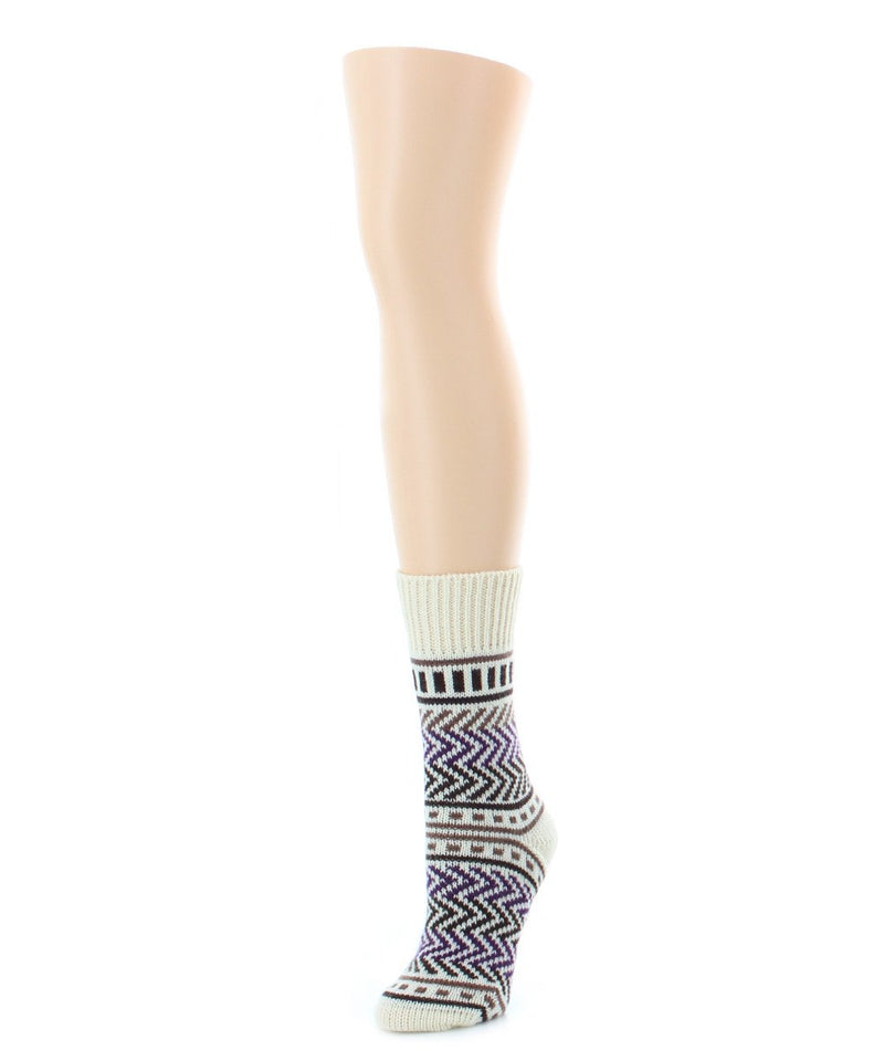 Zag Dash Chunky Knit Boot Sock