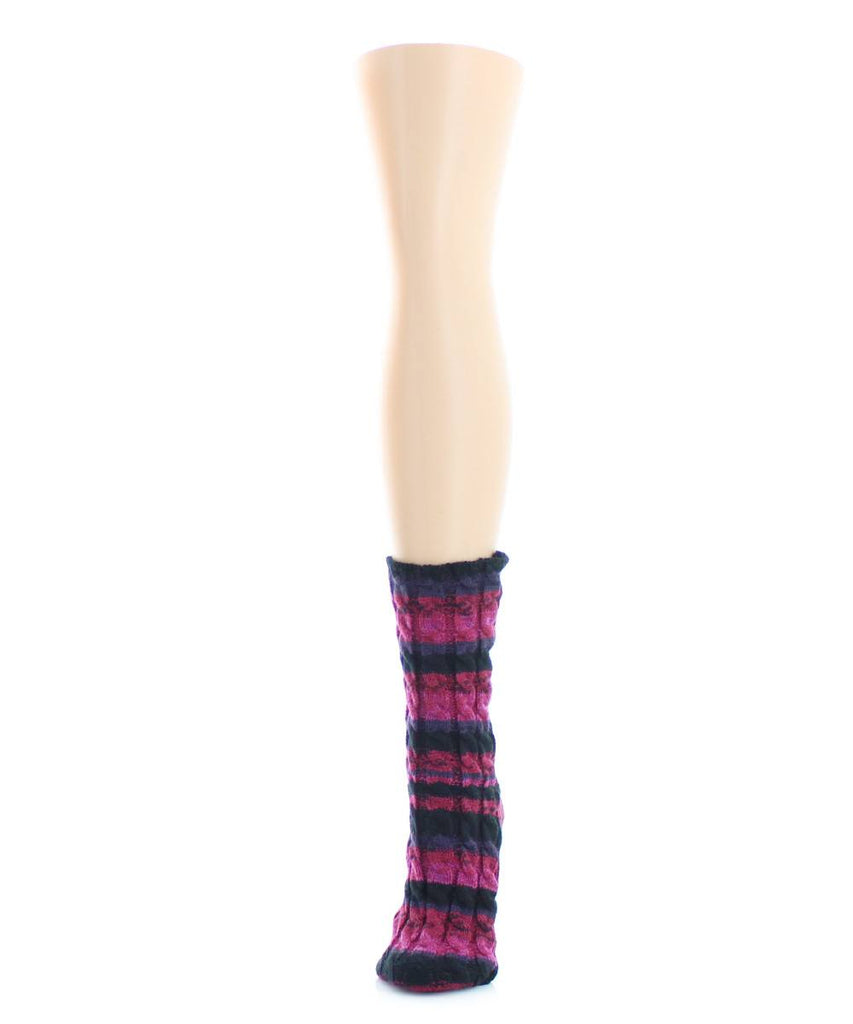 Static Tone Chunky Knit Boot Sock - MeMoi - 1