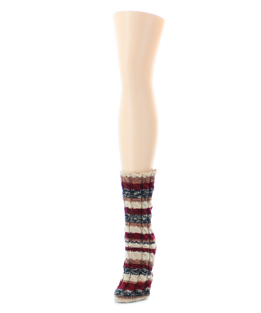 Static Tone Chunky Knit Boot Sock - MeMoi - 3