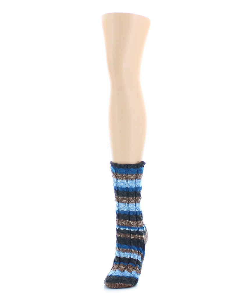 Static Tone Chunky Knit Boot Sock - MeMoi - 4