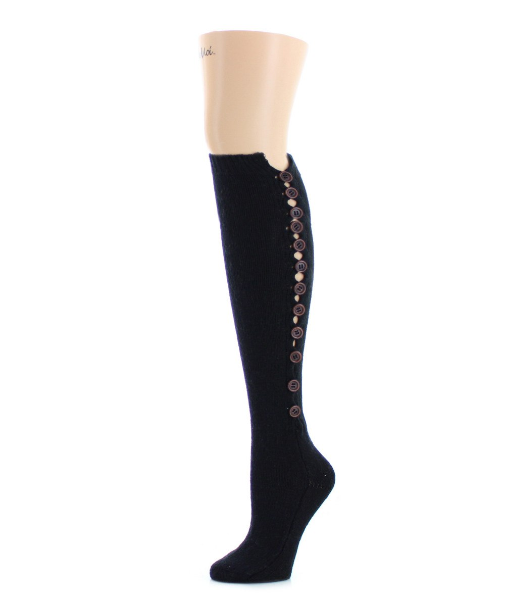 Buttonlap Chunky Knit Knee High - MeMoi - 1