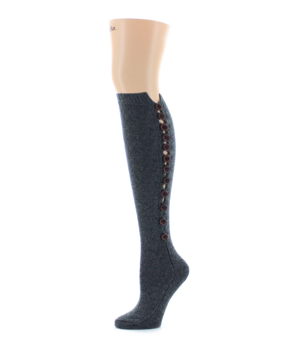 Buttonlap Chunky Knit Knee High - MeMoi - 3