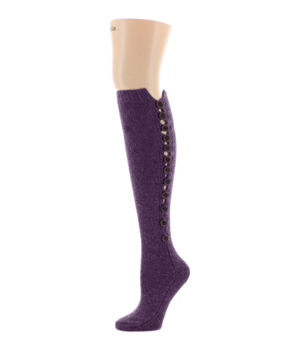 Buttonlap Chunky Knit Knee High - MeMoi - 5