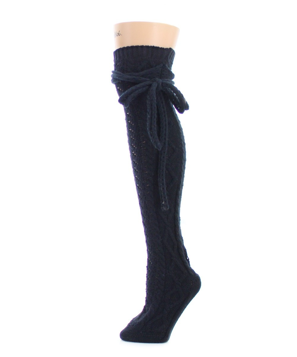 Sailors Knot Chunky Knit Over The Knee - MeMoi - 1