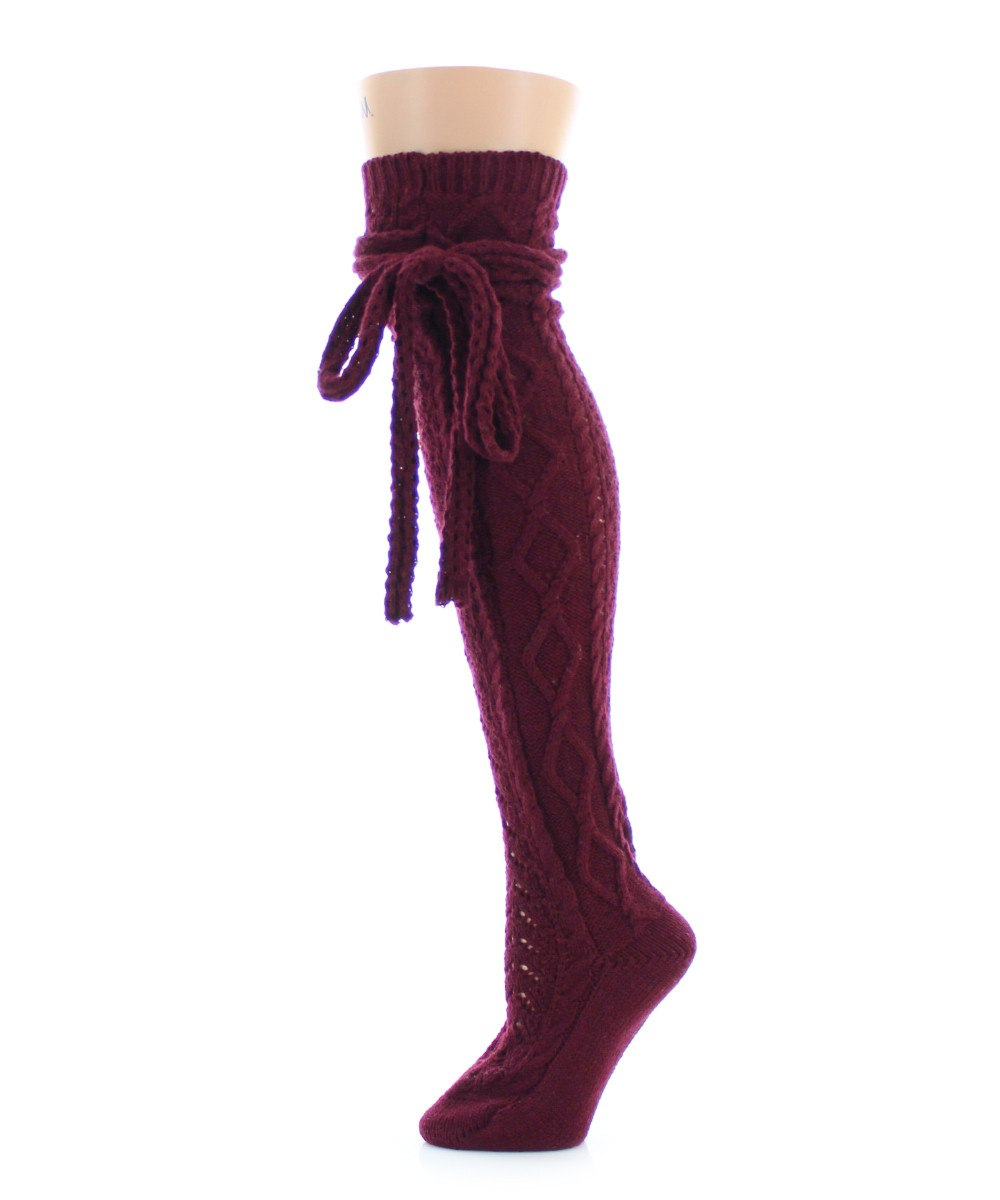 Sailors Knot Chunky Knit Over The Knee - MeMoi - 3