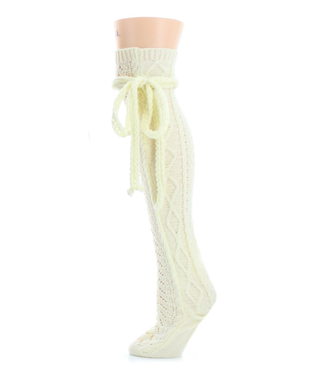 Sailors Knot Chunky Knit Over The Knee - MeMoi - 4