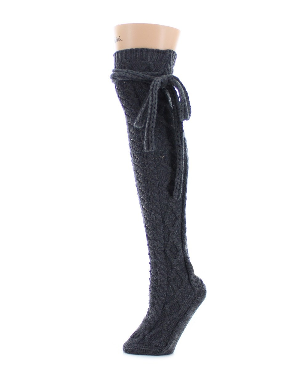 Sailors Knot Chunky Knit Over The Knee - MeMoi - 5