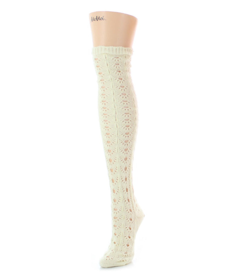 Linear Loop Chunky Knit Over The Knee - MeMoi - 4