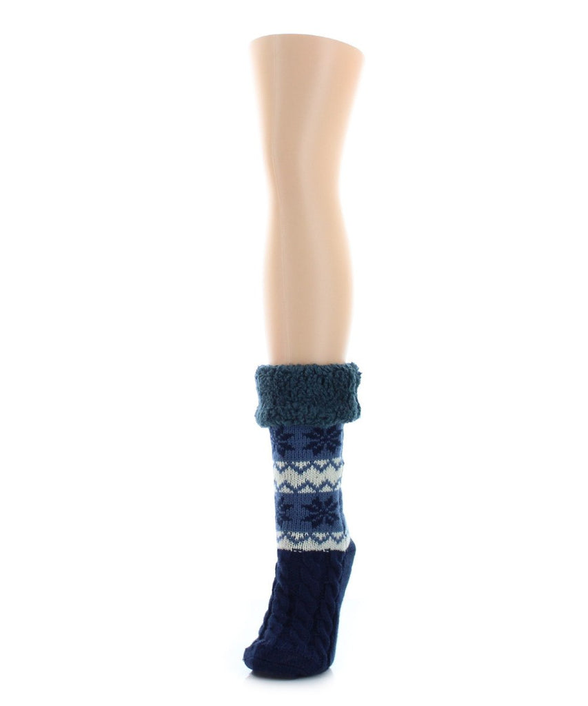 Flake Zag Sherpa Lined Lounge Sock - MeMoi - 3