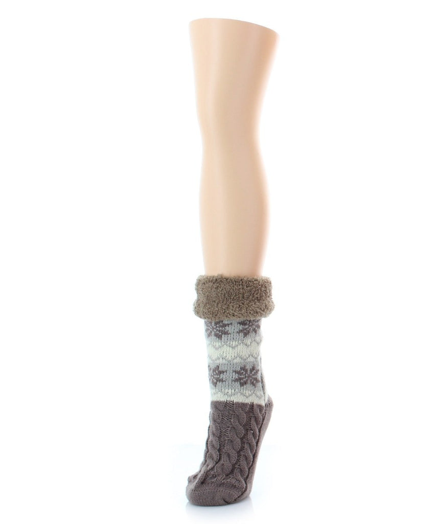 Flake Zag Sherpa Lined Lounge Sock - MeMoi - 5