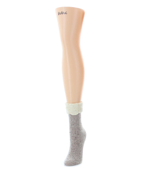 Scalloped Fold Boot Sock - MeMoi - 2