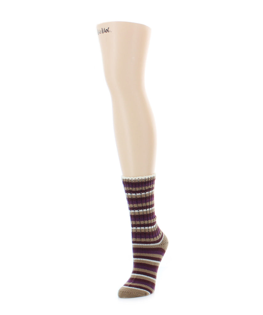 Tonal Stripes Boot Sock - MeMoi - 4