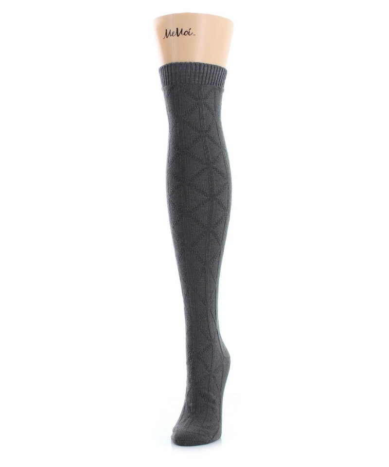 MeMoi Diamond Line Over The Knee Sock