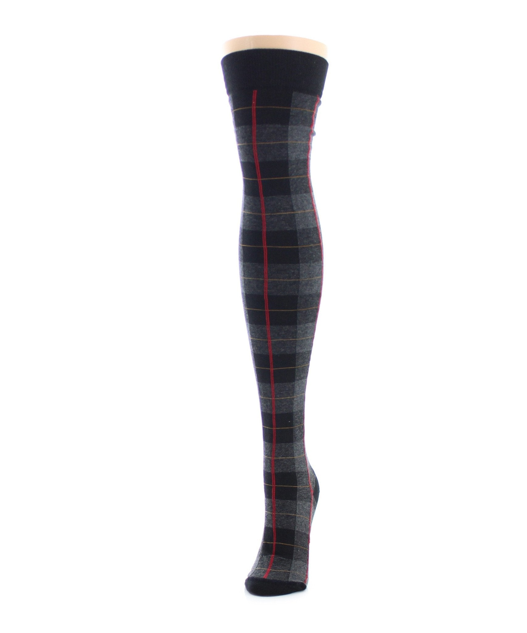 Famous Tartan Plaid Over The Knee Socks - MeMoi - 2