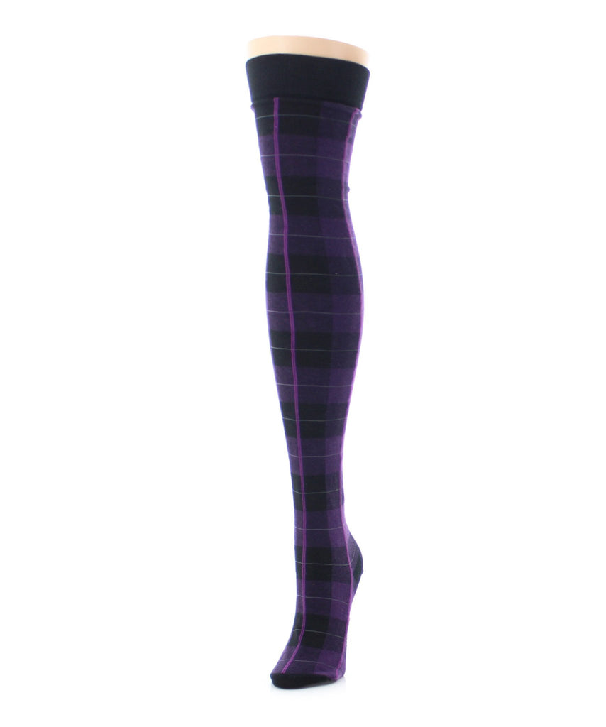 Famous Tartan Plaid Over The Knee Socks - MeMoi - 4