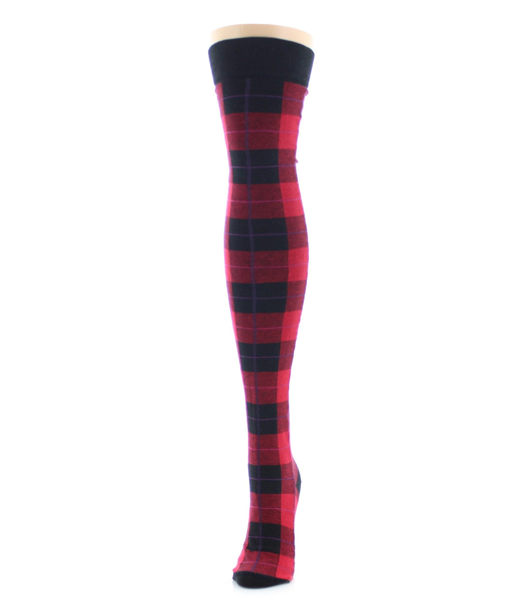 Famous Tartan Plaid Over The Knee Socks - MeMoi - 5