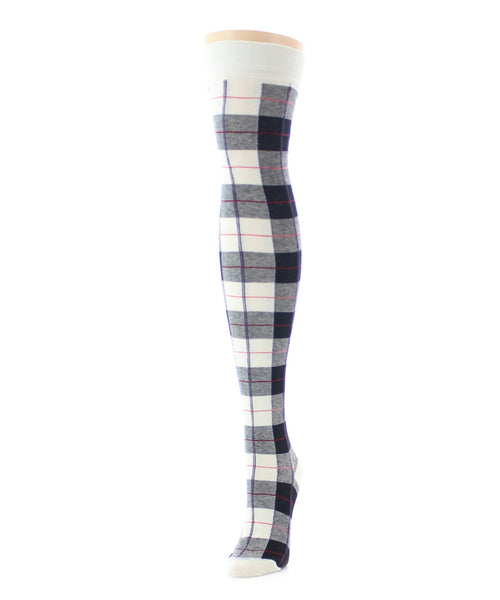 Famous Tartan Plaid Over The Knee Socks - MeMoi - 1