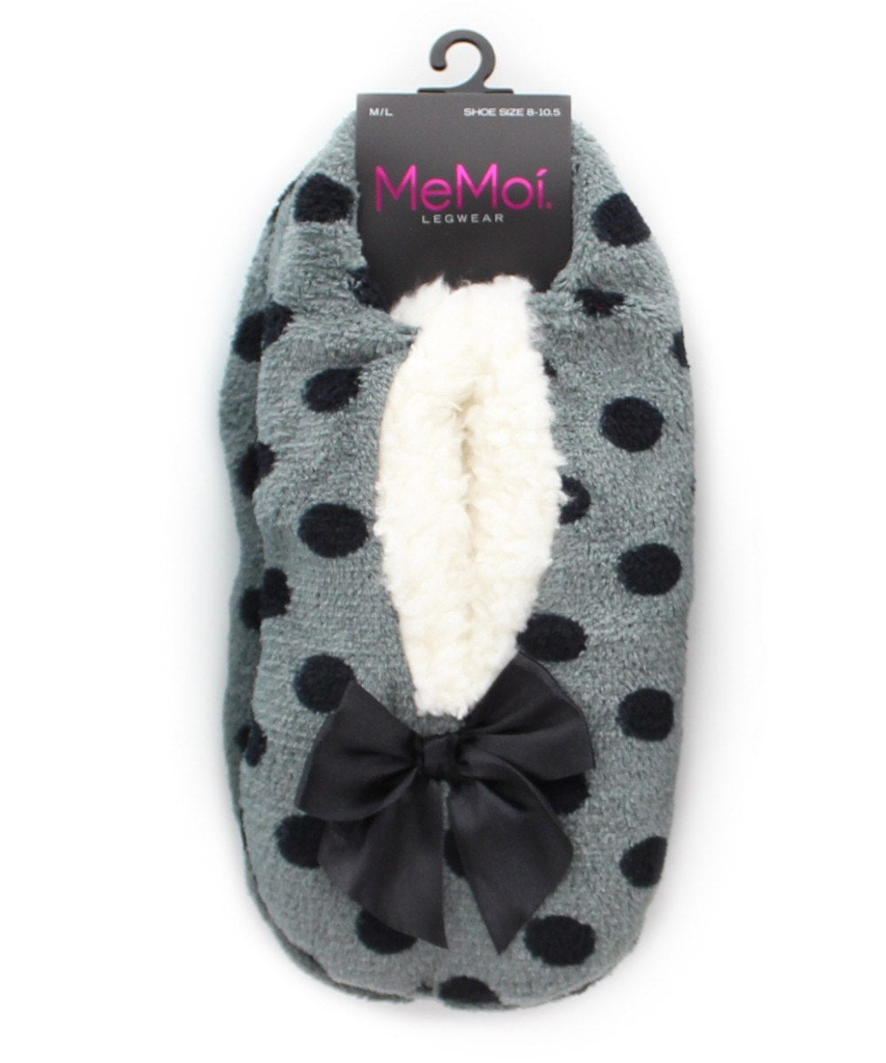 Dot Fluff Sherpa Lined Slippers - MeMoi - 4