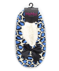 Cheetah Fluff Sherpa Lined Slipper - MeMoi - 2