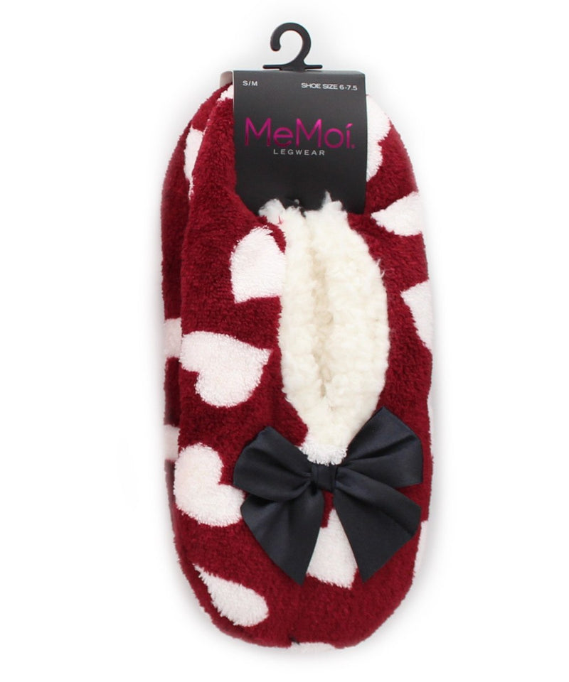 MeMoi I Heart Soft & Fuzzy Women's Slippers | House Slippers | Burgundy MF5-9305