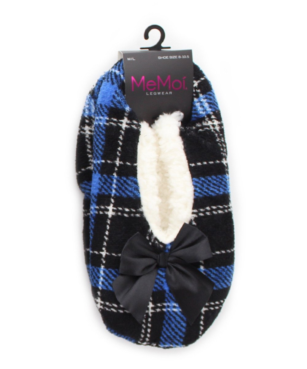 Portrait Plaid Sherpa Lined Slipper - MeMoi - 1