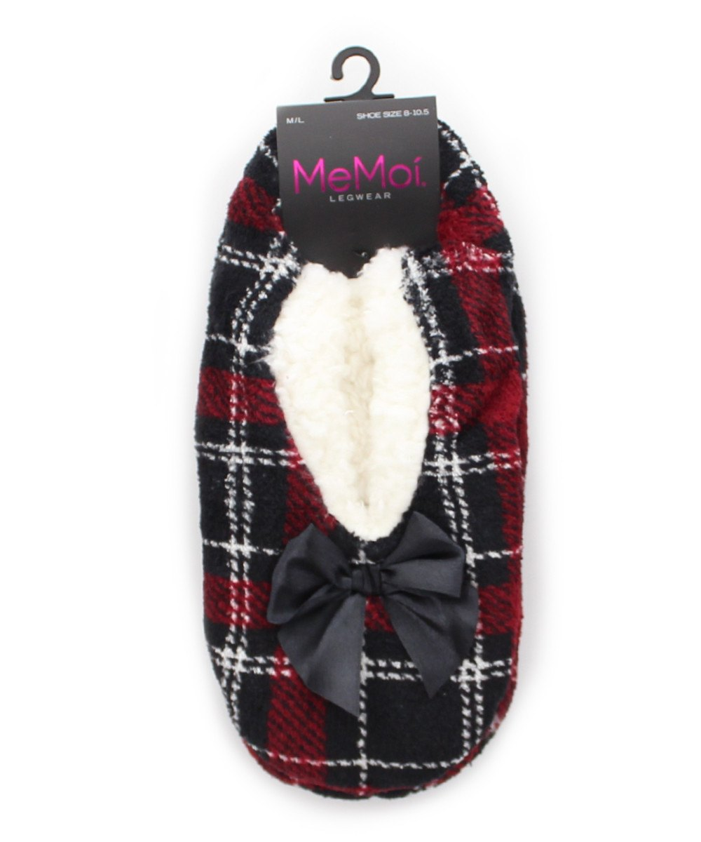 Portrait Plaid Sherpa Lined Slipper - MeMoi - 2