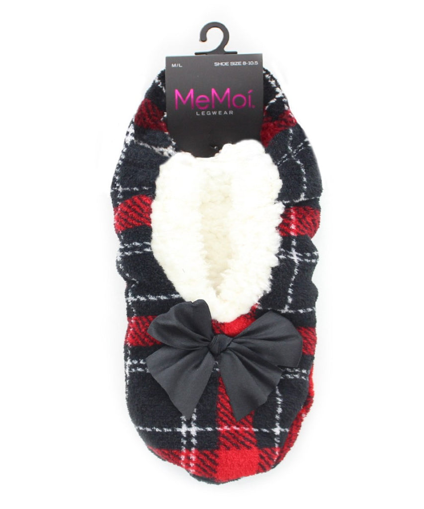 Portrait Plaid Sherpa Lined Slipper - MeMoi - 4