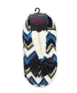 Chevron Shades Sherpa Lined Slipper - MeMoi - 1