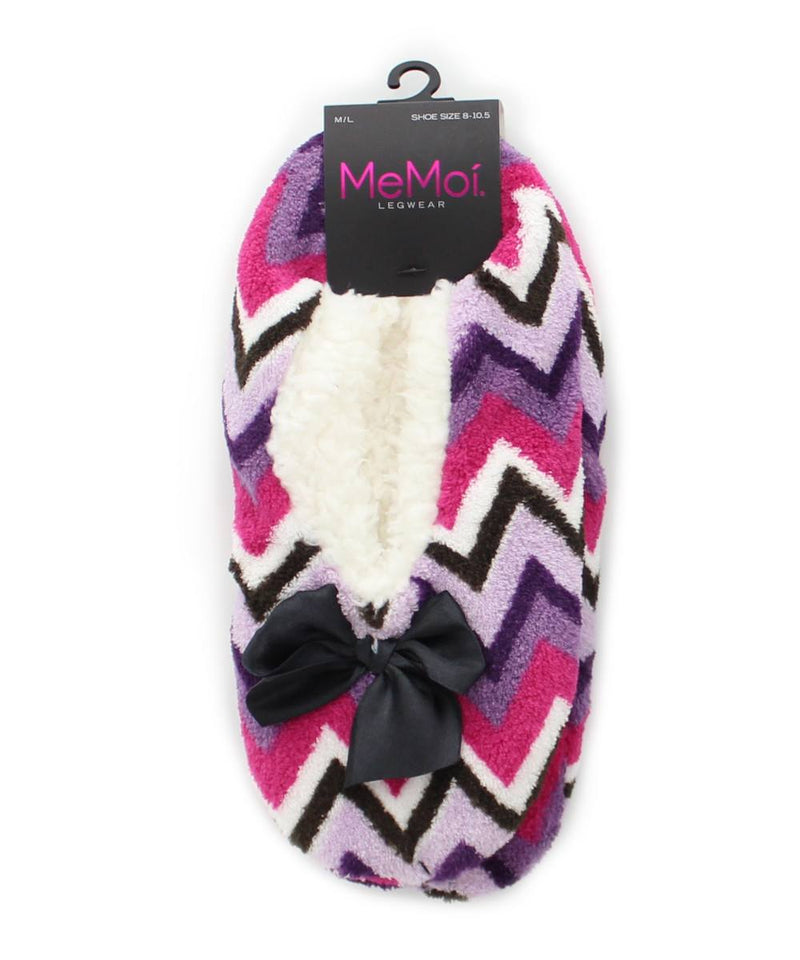 MeMoi Chevron Shades Sherpa Lined Slippers