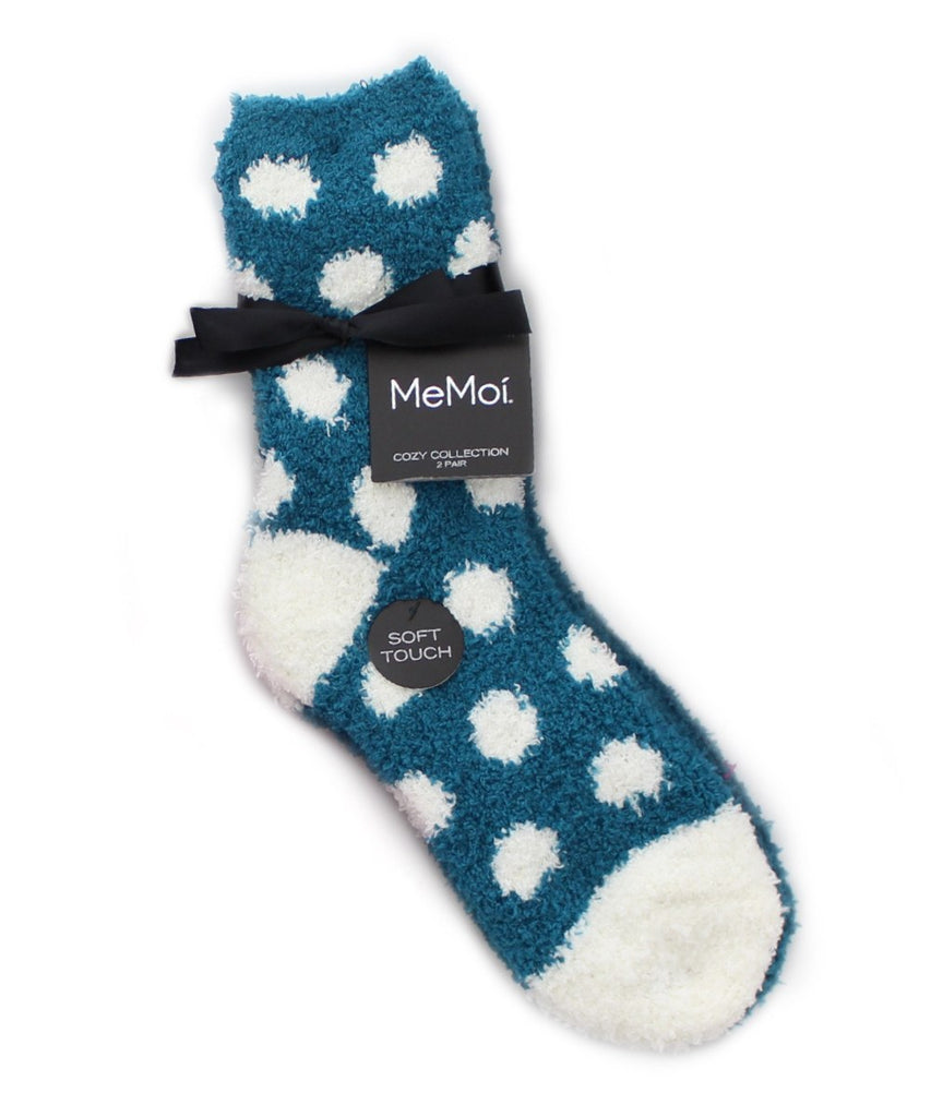 Dots/Solid Cozy Collection 2 Pair Pack - MeMoi - 3