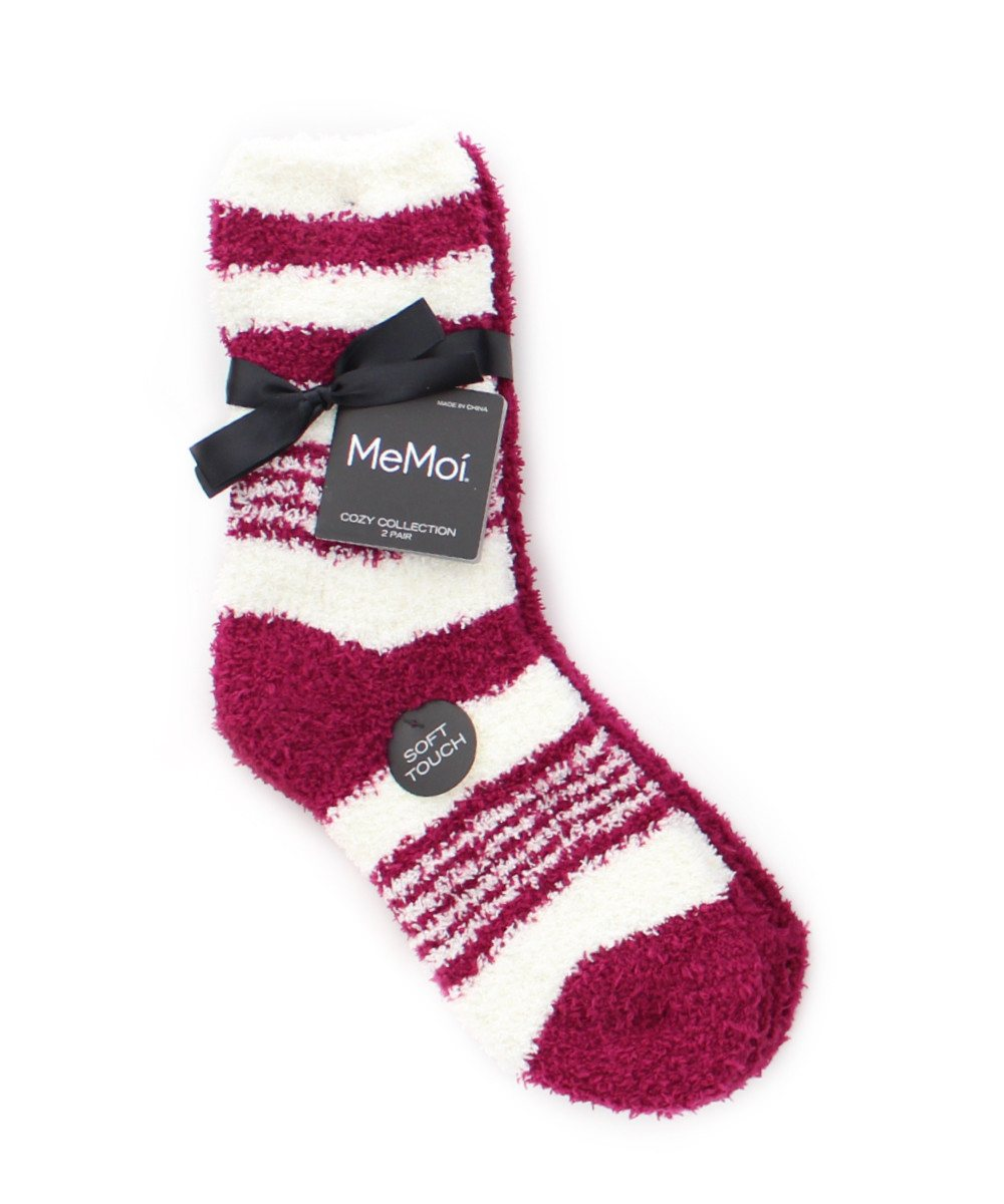 RibbonStripe Cozy Collection 2 Pair Pack - MeMoi - 3