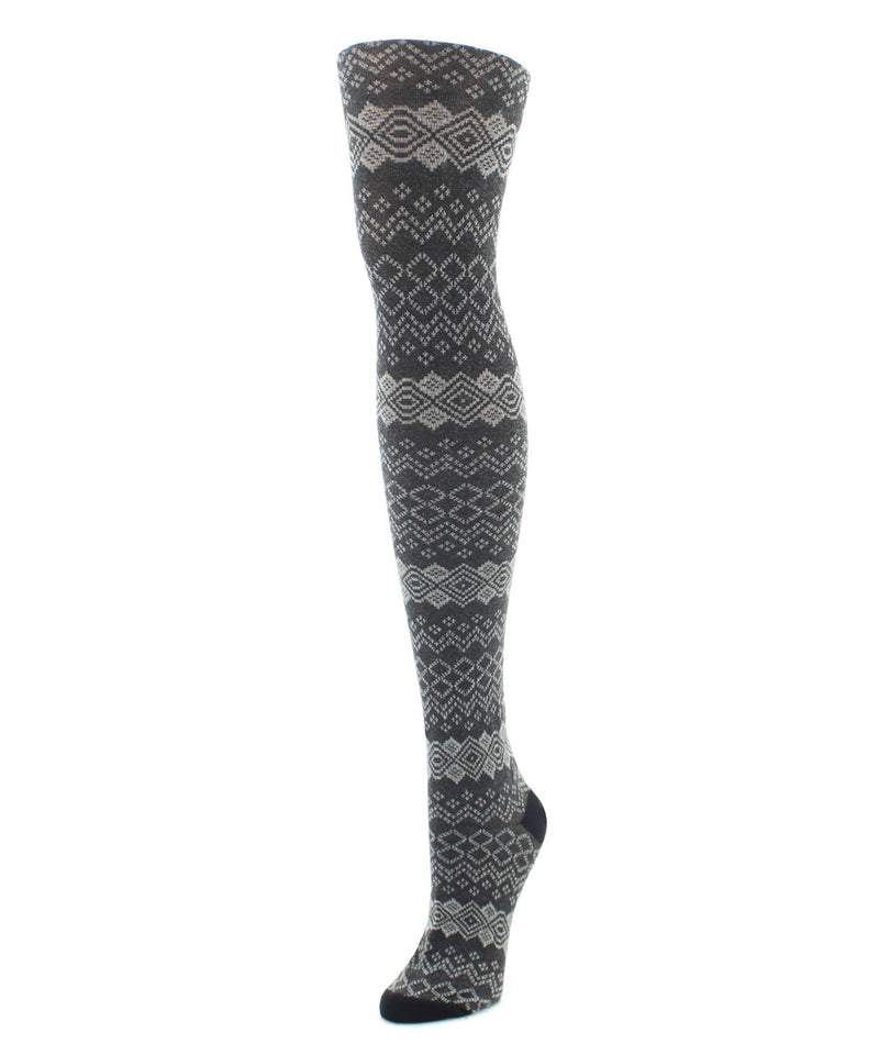 MeMoi Horizontal Diamond Sweater Tights