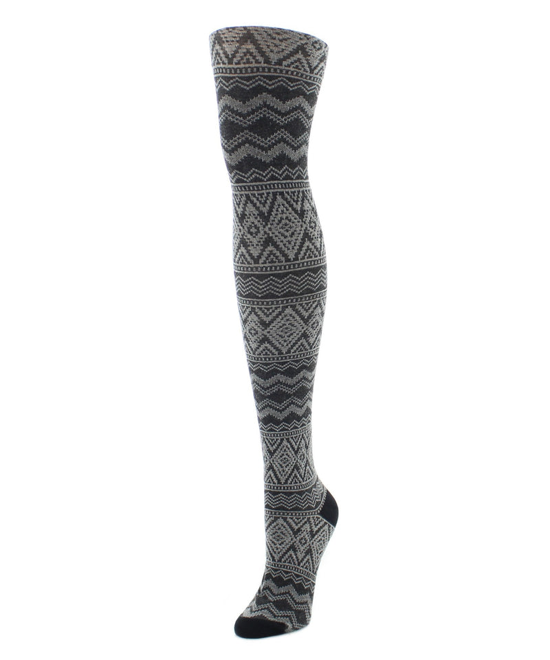 Sweater Tights | Patterned Tights | Diamond Fair Isle