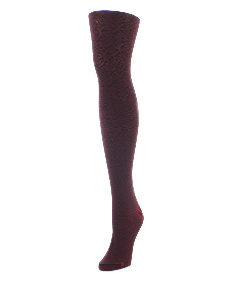 Sweater Tights | Patterned Tights | Circular Floral - MeMoi - 2