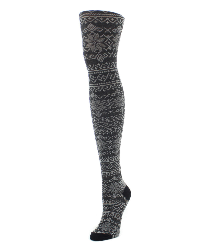 Sweater Tights | Patterned Tights | Holiday Snowflake - MeMoi - 1