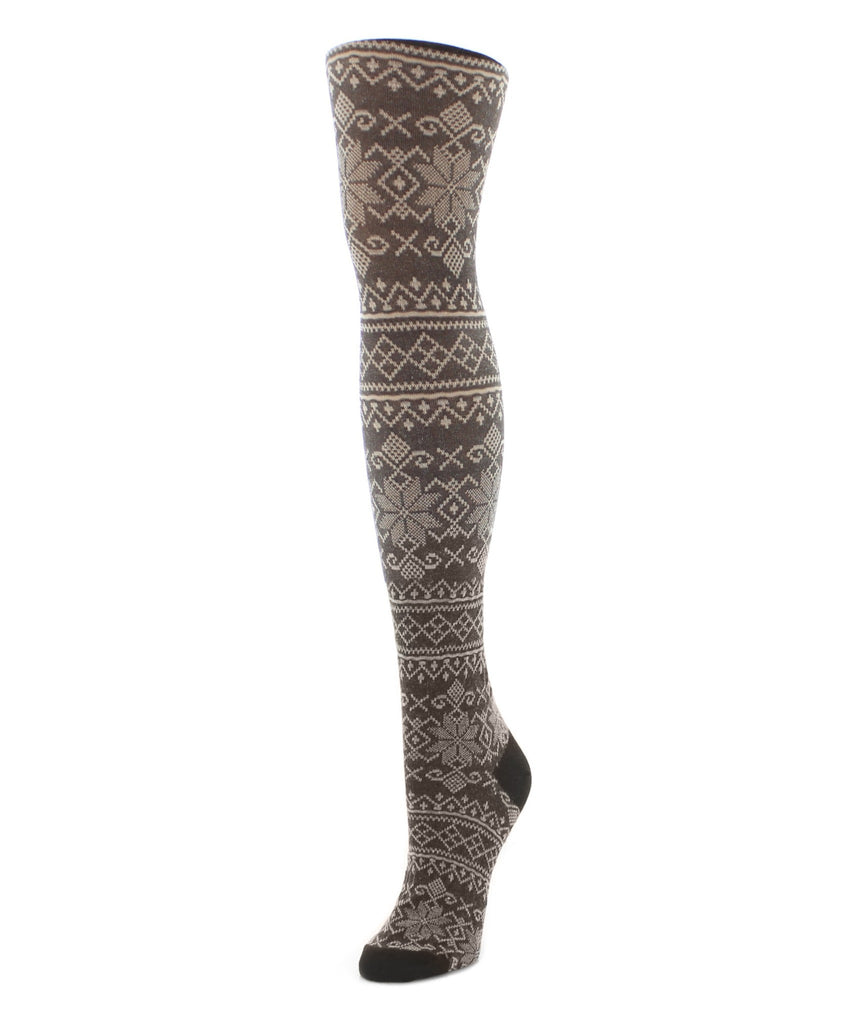 Sweater Tights | Patterned Tights | Holiday Snowflake - MeMoi - 2