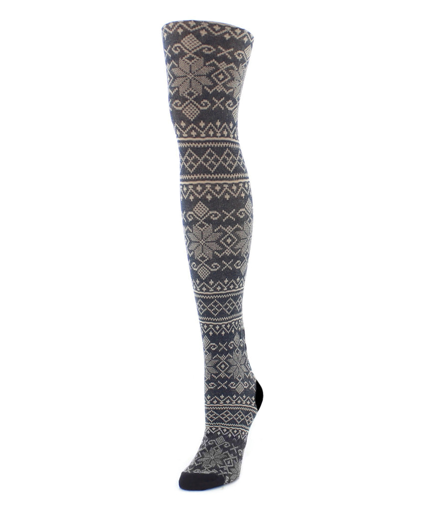 Sweater Tights | Patterned Tights | Holiday Snowflake - MeMoi - 4