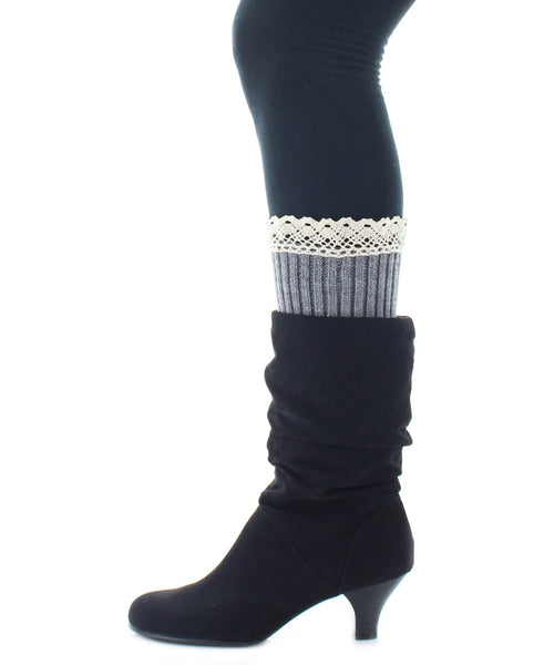 Boot Toppers | Crochet Socks | Ribbed Pattern - MeMoi - 2