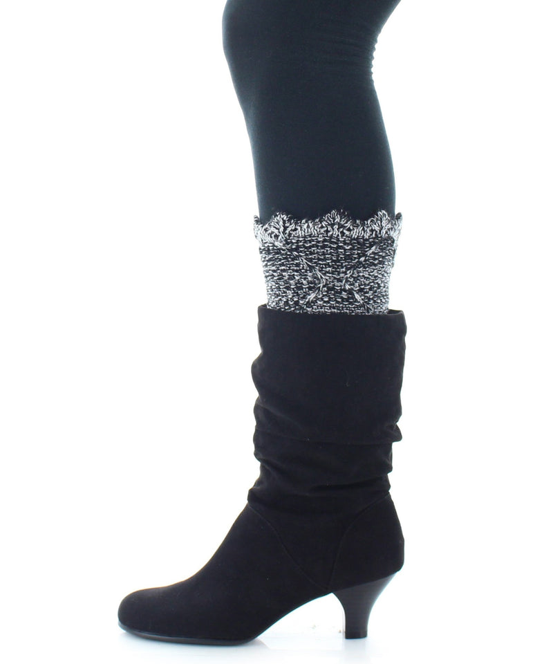 Boot Toppers | Knit Socks | Giant Diamond Pattern - MeMoi - 1